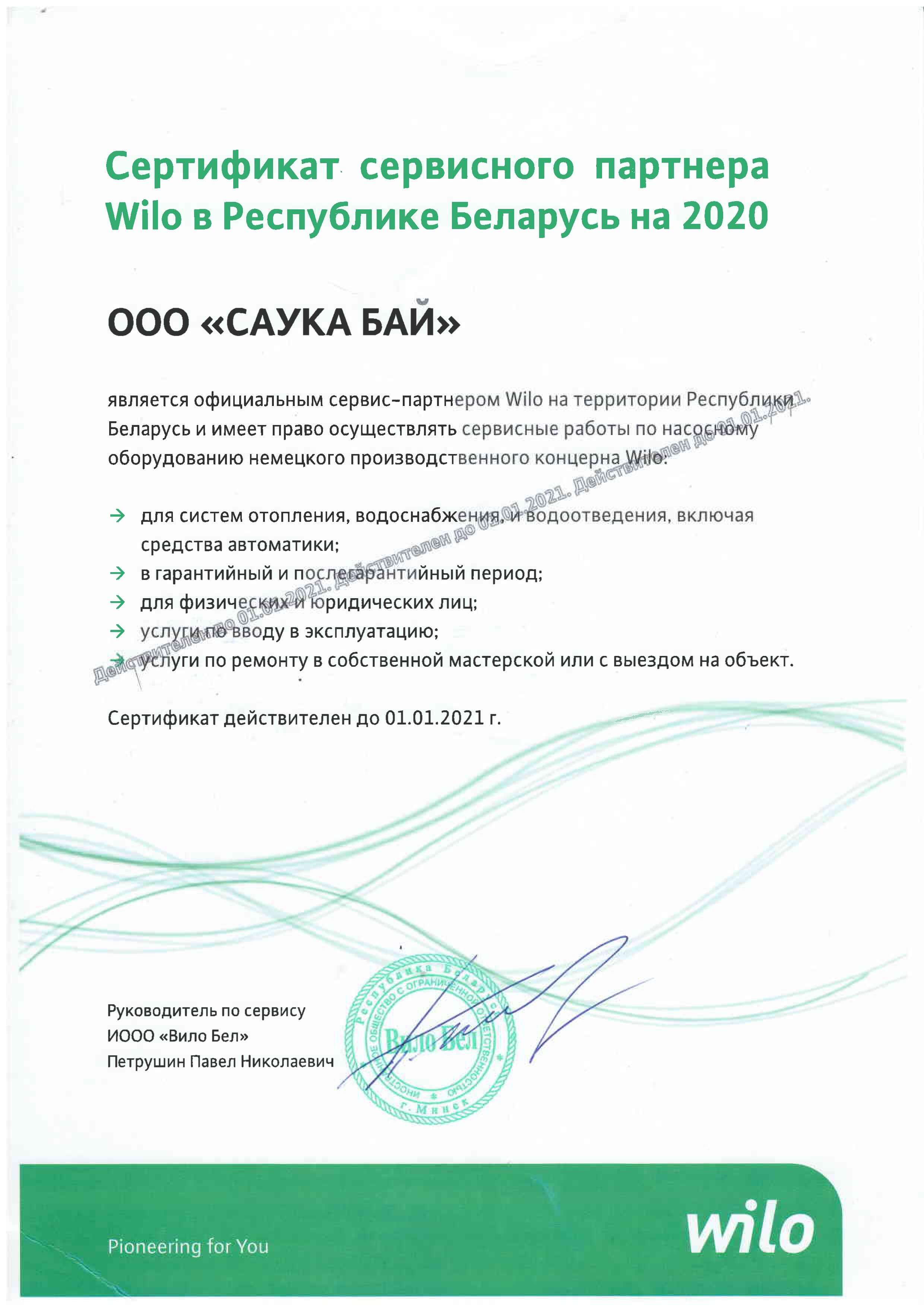Certificate willo 2020 tiny